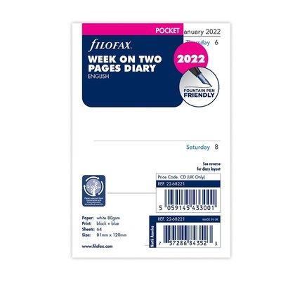 Filofax Filofax 2022 Week to View Pocket Planner Refill
