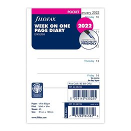 Filofax Filofax 2022 Week on a Page Pocket Planner Refill