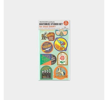 Traveler's Traveler's Notebook 2022 Customized Sticker Set