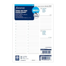 Filofax Filofax 2022 Week to View With Appointments A5 Planner Refill