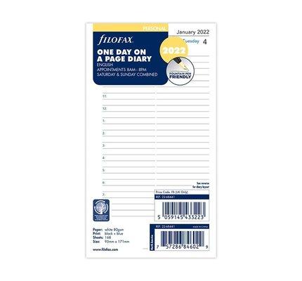 Filofax Filofax 2022 Day Per Page Personal Planner Refill