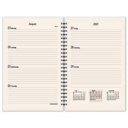 Scully Scully 2022 Spiral Monthly/Weekly (6.75 X 8.75) Refill