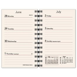 Scully Scully 2022 Spiral Mini Weekly Calendar (2 3/8 X 4 1/2) Refill