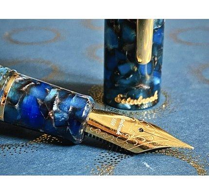 Esterbrook Esterbrook Estie Oversize Nouveau Bleu with Gold Trim Fountain Pen
