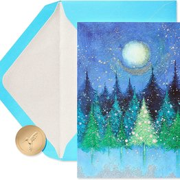 Papyrus Holiday Tree Under the Moon Boxed Holiday Cards