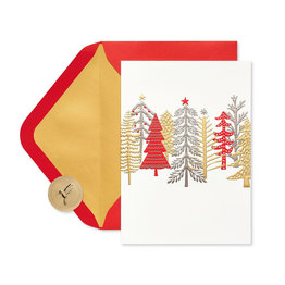 Papyrus Whimsical Trees Boxed Holiday Cards