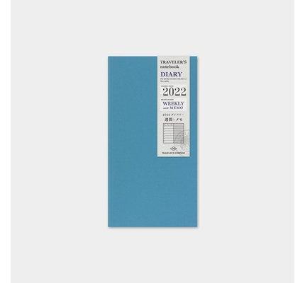Traveler's Traveler's Notebook Regular Refill 2022 Weekly + Memo
