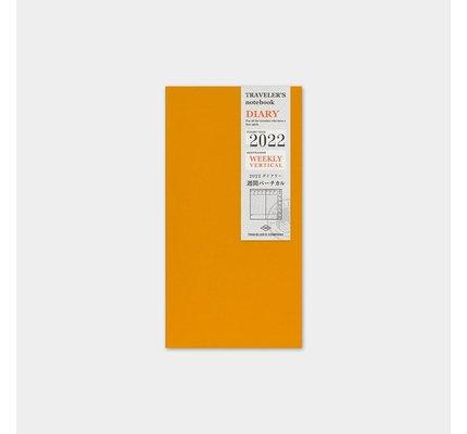 Traveler's Traveler's Notebook Regular Refill 2022 Weekly Vertical