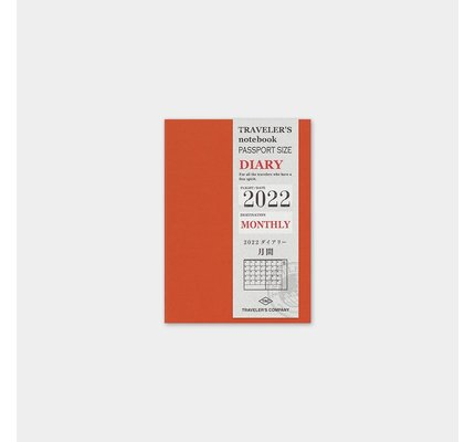Traveler's Traveler's Notebook Passport Refill 2022 Monthly