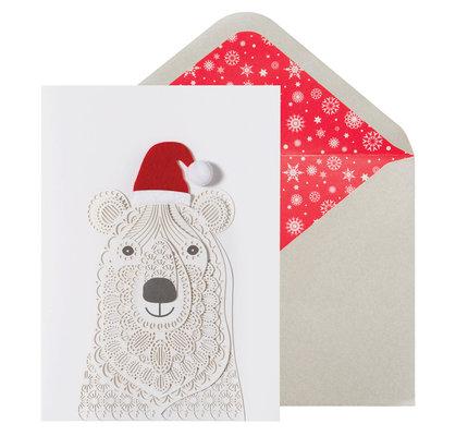 NIQUEA.D NIQUEA.D Laser Cut Polar Bear Holiday Card