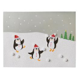 NIQUEA.D NIQUEA.D Penguins and Snowballs Holiday Card