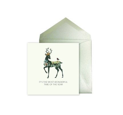 NIQUEA.D NIQUEA.D Reindeer with Crown Holiday Card