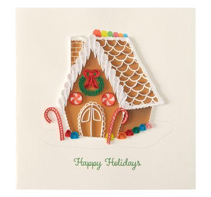NIQUEA.D NIQUEA.D Quilling Gingerbread House Christmas Card
