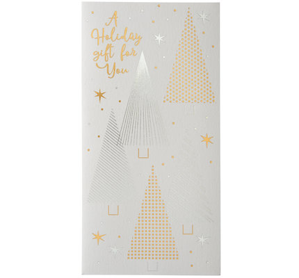 NIQUEA.D NIQUEA.D Silver and Gold Trees Oblong Holiday Card