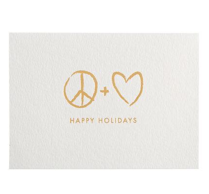 NIQUEA.D NIQUEA.D Peace and Love Holiday Card