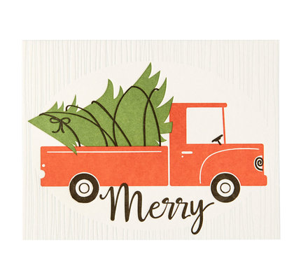 NIQUEA.D NIQUEA.D Truck with Tree Christmas Card