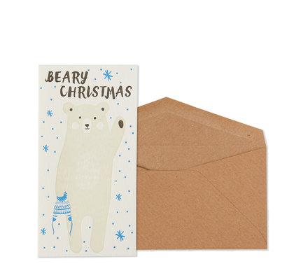 NIQUEA.D NIQUEA.D Beary Christmas Oblong Christmas Card