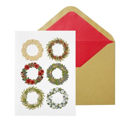 NIQUEA.D NIQUEA.D Six Wreaths Christmas Card