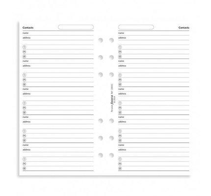 Filofax Filofax Contacts Name/Address/Telephone White Personal