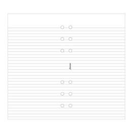 Filofax Filofax Notepaper Personal White Ruled