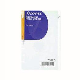 Filofax Filofax Transparent Flyleaf With Tab Personal