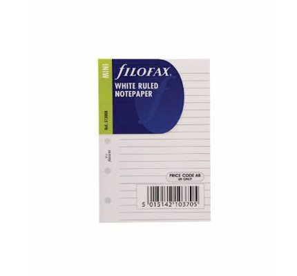 Filofax Filofax Ruled Notepaper Mini White