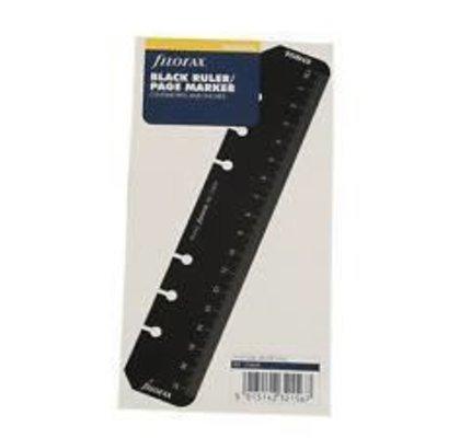 Filofax Filofax Black Ruler/Page Marker Personal