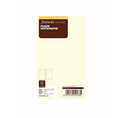 Filofax Filofax Notepaper Personal Cream Plain