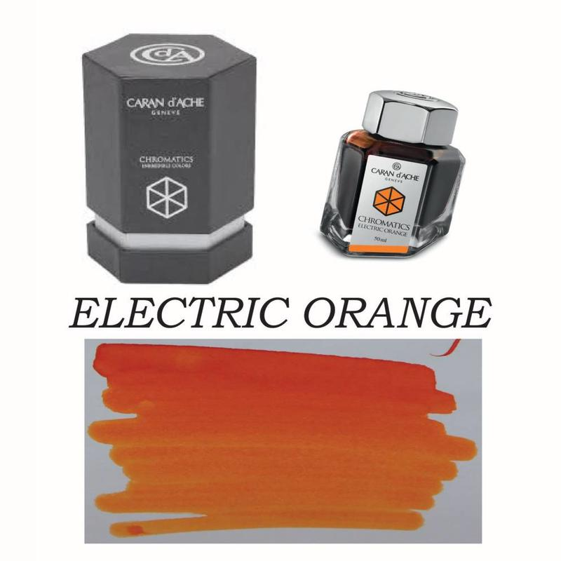 Caran D' Ache Caran D' Ache Electric Orange - 50ml Bottled Ink
