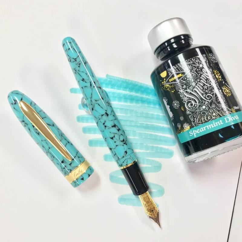 Laban Laban Taroko Fountain Pen Turquoise Blue