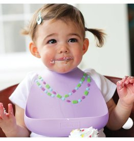 MAKE MY DAY Lilac with Jewels Silicone Baby Bib