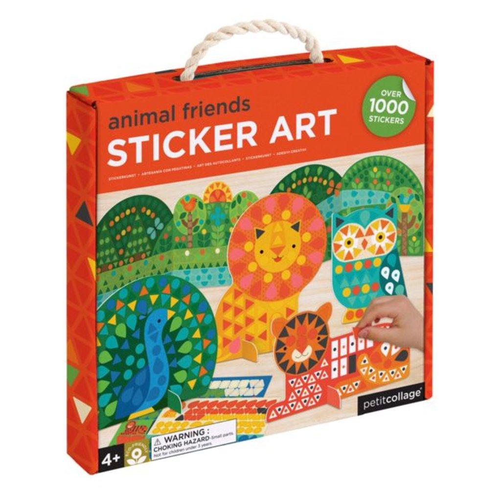 PETIT COLLAGE Animal Friends Preschool Sticker Art Kit
