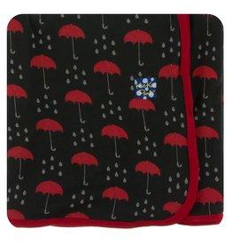 KICKEE PANTS Umbrellas & Rain Swaddling Blanket