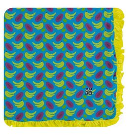 KICKEE PANTS Tropical Fruit Ruffle Toddler Blanket