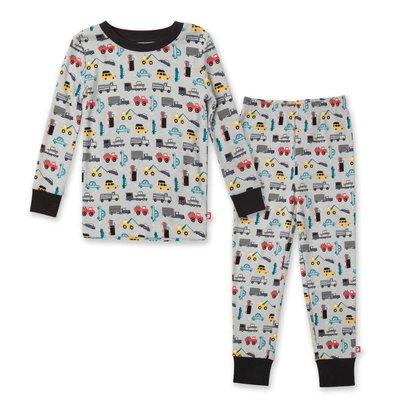ZUTANO Zutano Traffic Organic Cotton PJ Set
