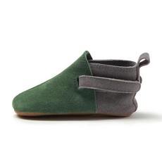 ZUTANO Zutano Green Suede Color Block Baby Shoe