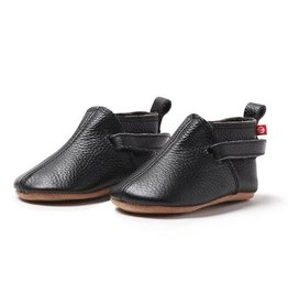 ZUTANO Black Leather Baby Shoe