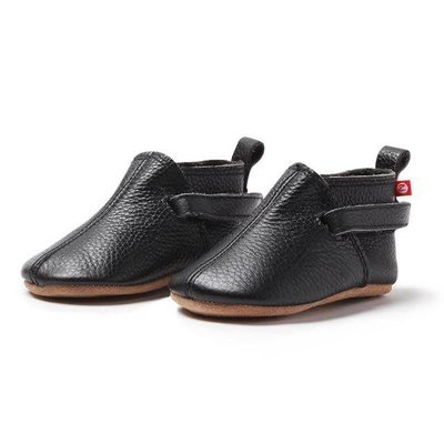 ZUTANO Zutano Black Leather Baby Shoe