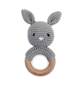 CHEENGOO Bunny Rattle Teether