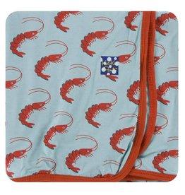 KICKEE PANTS Jade Shrimp Swaddling Blanket