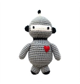 CHEENGOO Robot Hand Crocheted Rattle