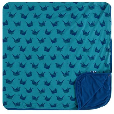 KICKEE PANTS Seagrass Origami Crane Toddler Blanket