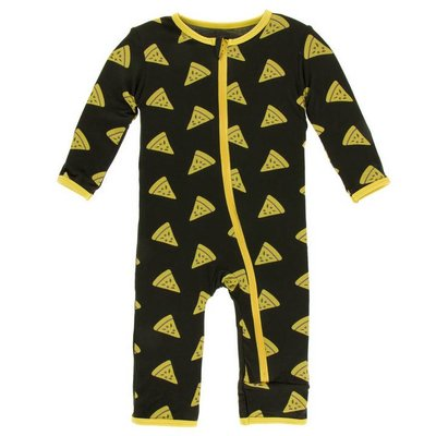 KICKEE PANTS Zebra Pizza Coverall with Zipper