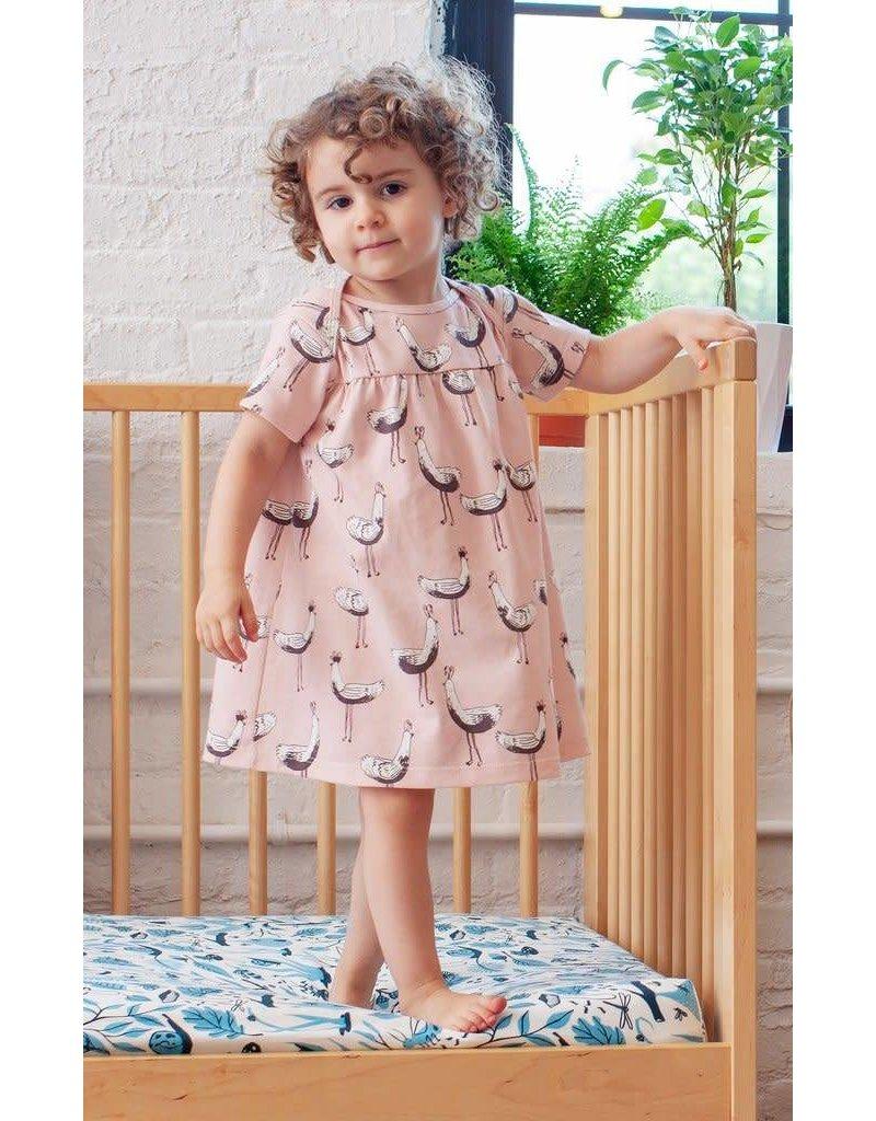 WINTER WATER FACTORY Lucca Baby Dress - Bird Parade Pink