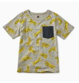 TEA COLLECTION Tea Tossed Tigers Pocket Tee