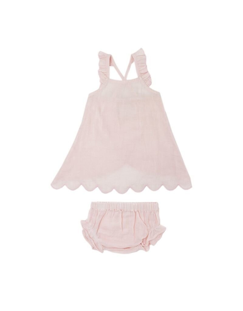 L'OVED BABY Blush Organic Muslin Tunic Top & Bloomers