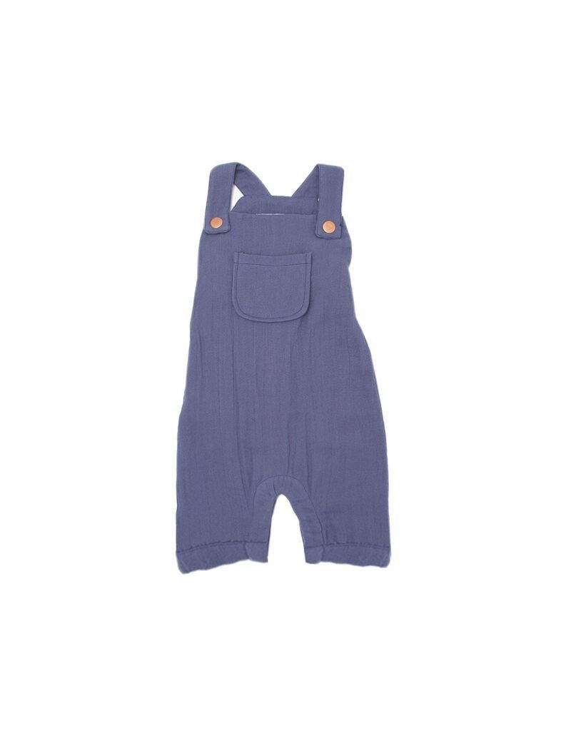 L'OVED BABY Slate Organic Muslin Overall