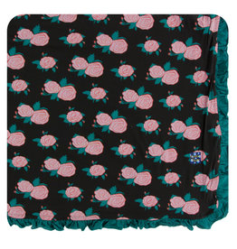 KICKEE PANTS English Rose Garden Ruffle Toddler Blanket