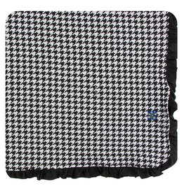 KICKEE PANTS Zebra Houndstooth Ruffle Toddler Blanket