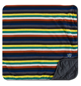 KICKEE PANTS Dark London Stripe Toddler Blanket
